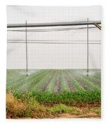 Mobile Irrigation Robot  Fleece Blanket