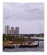 Moving Skyline Fleece Blanket