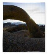 Mobius Arch Alabama Hills California 2 Fleece Blanket