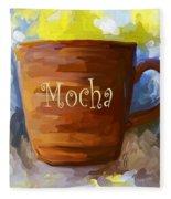 Mocha Coffee Cup Fleece Blanket