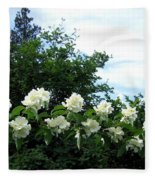 Mock Orange Blossoms Fleece Blanket