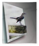Mockingbird - Use Red-cyan 3d Glasses Fleece Blanket