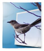 Mockingbird Branch Fleece Blanket