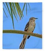 Mockingbird In A Palm Tree Fleece Blanket