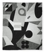 Mod, Grayscale Fleece Blanket