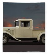 Model A Ford Truck Fleece Blanket