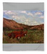 Model A Ghost Town Truck  Fleece Blanket