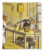 Model Kitchen, 1900s French Postcard Fleece Blanket
