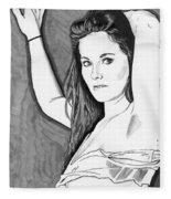 Model Shanna Fleece Blanket
