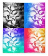Modern Art Meets My Flowers Fleece Blanket