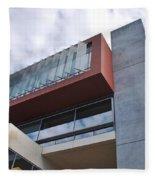 Modern Building Architecture Angles Fleece Blanket
