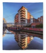 Modern Canal Living Fleece Blanket