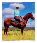 Modern Cowboy Fleece Blanket
