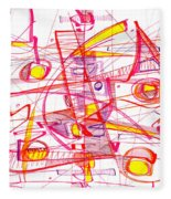 Modern Drawing Eighty-three Fleece Blanket