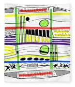 Modern Drawing Fifteen Fleece Blanket