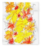 Modern Drawing Fifty-five Fleece Blanket