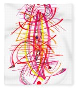 Modern Drawing Forty-five Fleece Blanket