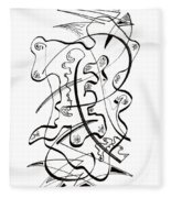 Modern Drawing Forty-seven Fleece Blanket
