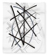 Modern Drawing Forty-six Fleece Blanket
