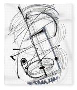Modern Drawing Thirty-eight Fleece Blanket