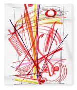 Modern Drawing Thirty-nine Fleece Blanket