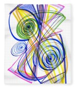 Modern Drawing Thirty-seven Fleece Blanket