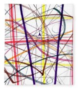 Modern Drawing Twelve Fleece Blanket