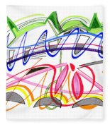 Modern Drawing Twenty-five Fleece Blanket