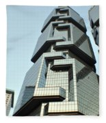 Modern Hong Kong  Fleece Blanket