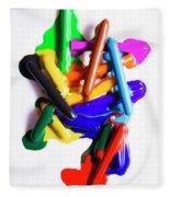Modern Rainbow Art Fleece Blanket