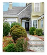 Modern Suburban House Hayward California 32 Fleece Blanket