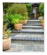 Modern Suburban House With Succulent Garden Hayward California 34 Fleece Blanket