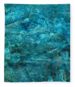 Modern Turquoise Art - Deep Mystery - Sharon Cummings Fleece Blanket