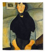 Modigliani: Woman, 1918 Fleece Blanket