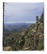 Mogollon Rim Under The Clouds Fleece Blanket