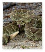 Mohave Green Rattlesnake Striking Position 3 Fleece Blanket