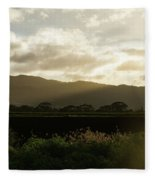 Moisture Laden Air - Hawaiian Farm After A Rainstorm Fleece Blanket
