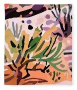 Mojave Canyon Edge 1  Fleece Blanket