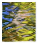 Mojave Gold Mosaic Abstract Art Fleece Blanket