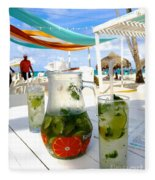 Mojitos On The Beach- Punta Cana Fleece Blanket