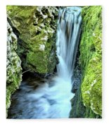Moine Creek Goes Vertical Fleece Blanket