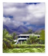 Moloa A Bay Hideaway Fleece Blanket