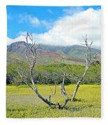 Molokai Surrealism Fleece Blanket