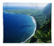 Molokai, View Fleece Blanket