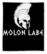 Molon Labe Spartan Warrior Helmet Fleece Blanket