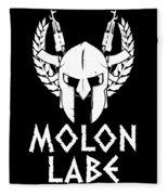 Molon Labe Spartan Warrior Helmet Rifles Fleece Blanket