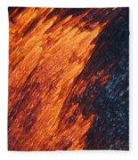 Molten Pahoehoe Lava Fleece Blanket