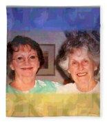 Mom Is Turning Ninety Fleece Blanket