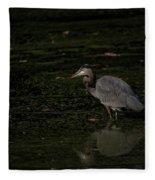Moment Of The Heron Fleece Blanket