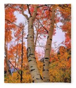 Moments Of Fall Fleece Blanket